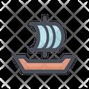 Sailing Boat Sailing Ship Transport Icon