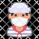 Avatar Man Medical Mask Icon