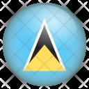 Saint Lucia Flag Icon