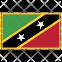 Saint Kitts Flag Country Icon