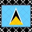 Saint Lucia Flag Flags Icon