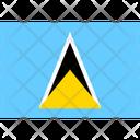 Flag Country Saint Lucia Icon