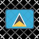 Saint Lucia Flag Country Icon