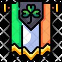 Saint Patrick Flag Saint Patrick Shamrock Icon