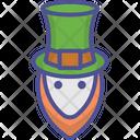 Saint Patricks Face Day Leprechaun Icon