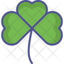Saint Patricks Flower Clover Day Icon