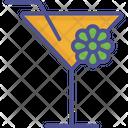 Saint Patricks Lemonade Flower With Glass Cocktail Icon