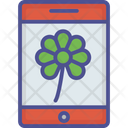 Saint Patrics App Mobile App Flower In Mobile Icon