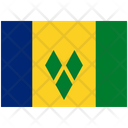 Flag Country Saint Vincent The Grenadines Icon