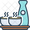 Sake Beverage Cup Icon