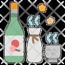 Sake Beverage Japanese Icon