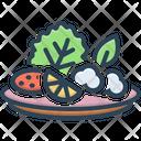 Salad Vegetable Plate Icon