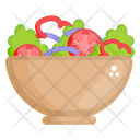 Salad Fruit Salad Mixed Vegetables Pieces Icon