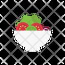 Salad Bowl Tomato Icon