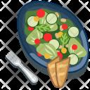 Baguette Salad Vegetable Icon