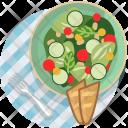 Salad Vegetable Baguette Icon