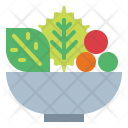 Salad Vegetables Vegetarian Icon