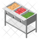 Salad Bar Cutted Vegetables Fresh Vegetables Icon