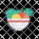 Salad Vegetables Bowl Icon