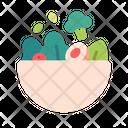 Salad Vegetable Vegan Icon