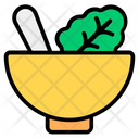 Salad Bowl Healthy Diet Mix Vegetables Icon
