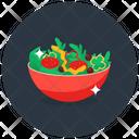 Salad Bowl Cheese Salad Fruit Salad Icon