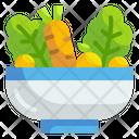 Salad Bowl Salad Vegetable Icon