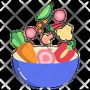 Salad Bowl Salad Healthy Icon