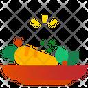 Salad Plate Icon