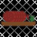 Salami Butcher Food Icon