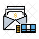 Salary Mail Banknoe Icon