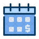 Salary Calendar Money Icon