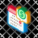 Calendar Business Coin Icon