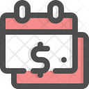Calendar Payment Day Time Is Money Icon