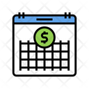 Finance Investment Calendar Icon