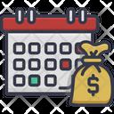 Salary Date Trading Calendar Financial Calendar Icon
