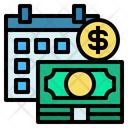 Salary Date Money Time Icon