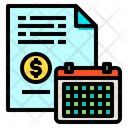 File Money Calendar Icon