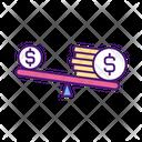 Imbalance Salary Comparison Icon