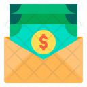 Payment Cash Salary Mail Icon