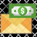 Salary Mail Envelope Cash Icon