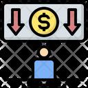 Salary Reduction Salary Reduction Icon