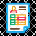 Salary Sheet Icon