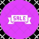 Sale Shopping Ribbon Icon