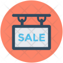 Sale Signboard Hanging Icon