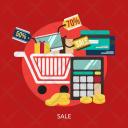 Sale Market Store Icon