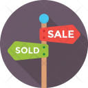 Sale Sold Signpost Icon