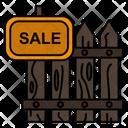Sale Fence Wood Icon