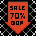 Sale 70 Percent Off Icon