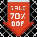 Sale 70 Percent Off Sale Tag Sale Icon